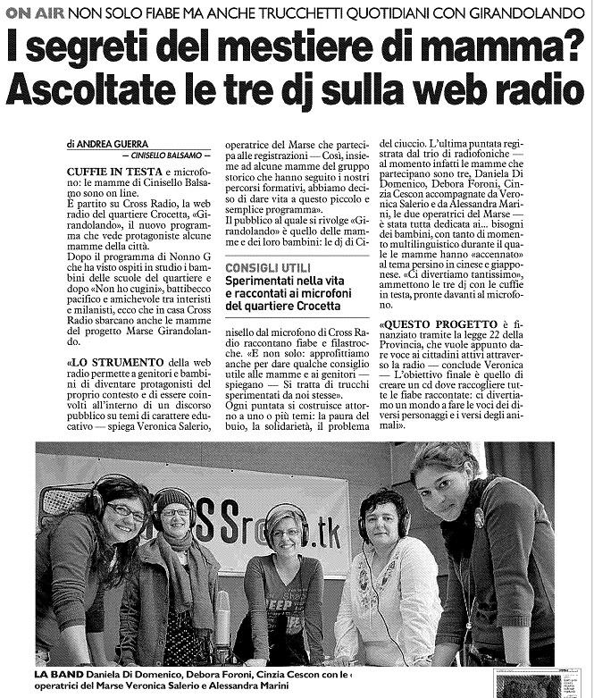 CrossRadio e le Mamme di Girandolando