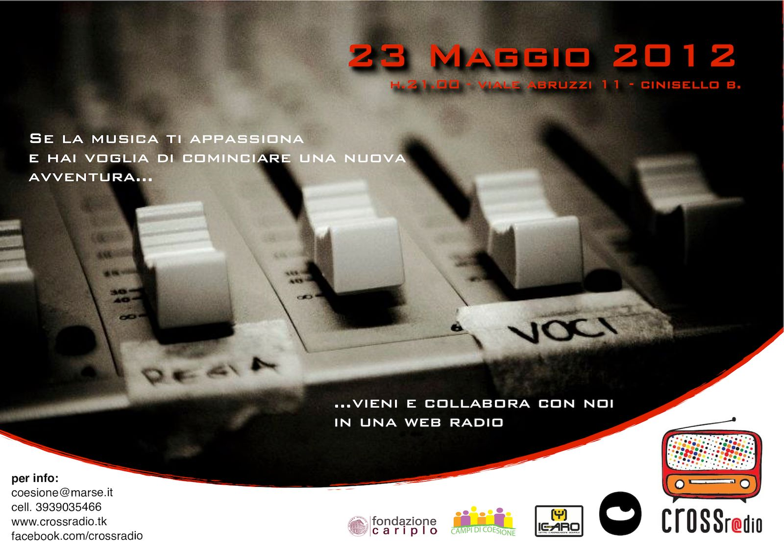 23 Maggio a CrossRadio